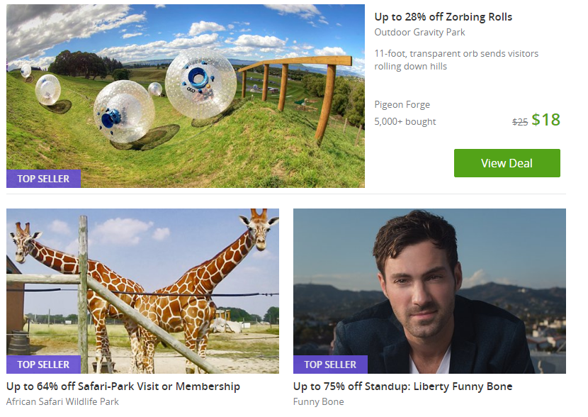 Groupon deals for a staycation.