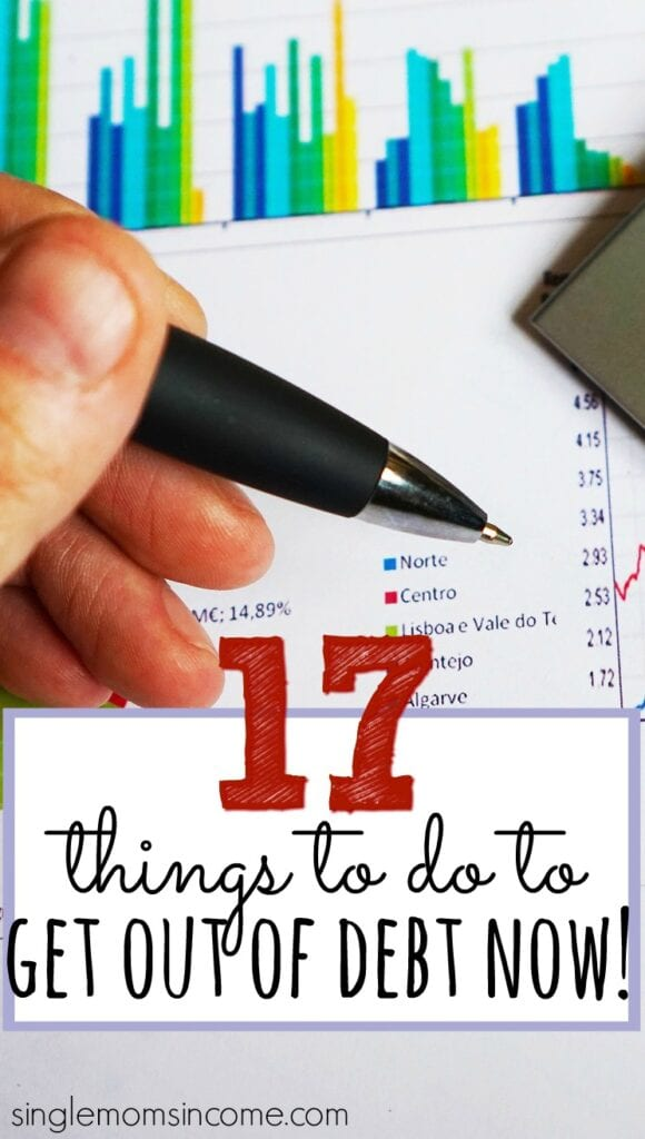 Get out of debt now with these seventeen tips!