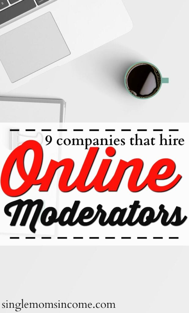 Yes, you can make money online as a moderator. The average pay is $31k - $70k per year. Here are nine places that often hire.