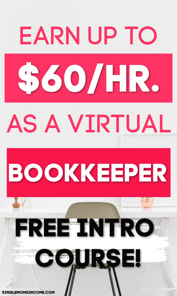If you've thought of becoming a bookkeeper here's a useful course that will teach you how to start an online bookkeeping business. Taught by a CPA. #bookkeeping #workfromhome #sidehustle