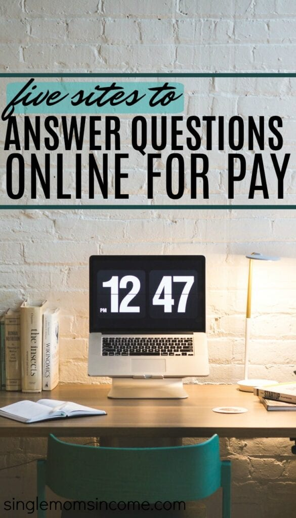 Make money answering questions online. 5 sites that pay.