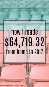 Blogging income report for 2017. #WorkFromHome