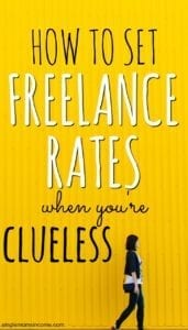 How to Set Freelance Rates When You're Clueless