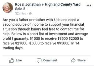 Facebook Investment Scam