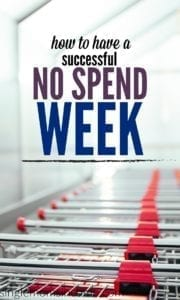 How to Successfully Have a No Spend Week