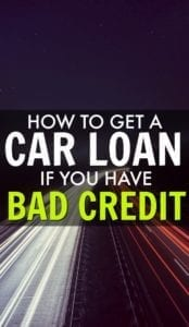 How to Get a Car Loan if You Have Bad Credit