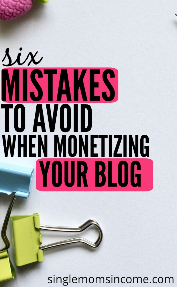 Is your blog income falling flat? You're not alone. Here are six mistakes to avoid when monetizing your blog. (And what to do instead.)