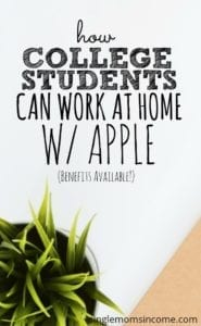 If you're a college student in need of a job and know your Apple products you may be in luck! Apple hires at-home advisors in participating colleges.