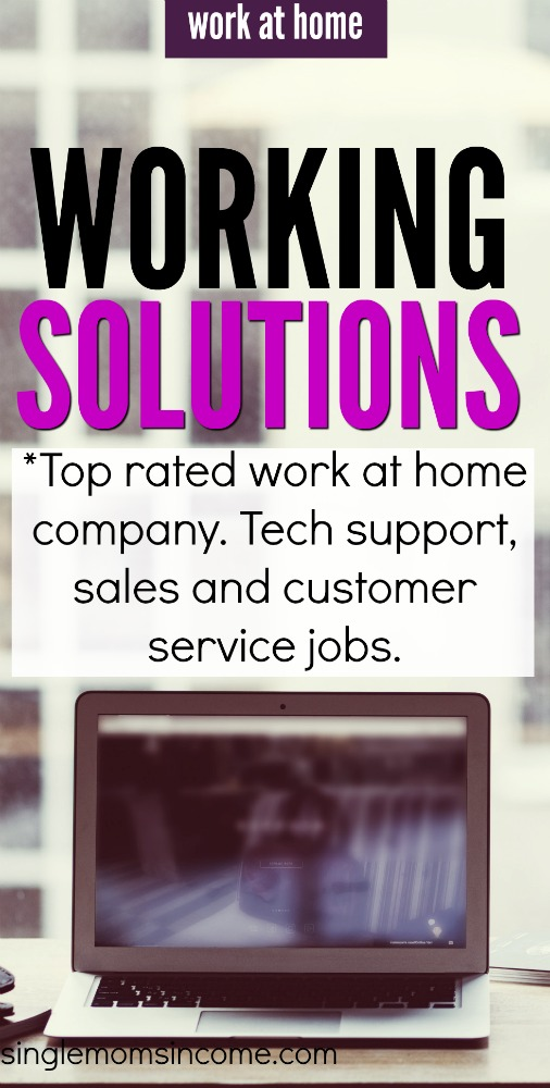 If you're looking for a top rated work from home company you'll want to check out Working Solutions. This company offers various jobs in customer service. #sidehustle #workfromhome