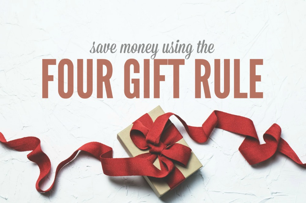 Don't want to bust your budget this Christmas? We don't blame you! Here's how to save a TON of money using the 4 gift rule.