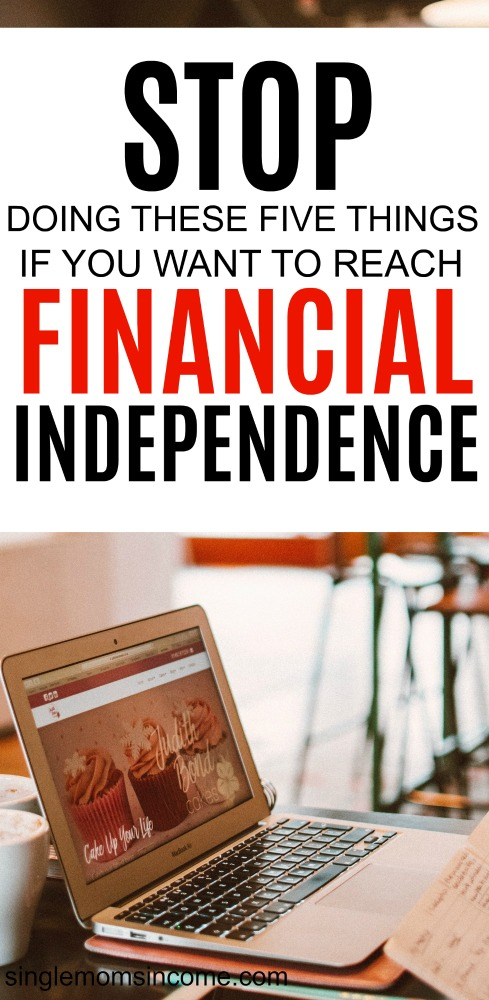 If you find it difficult to determine how you can make working optional, of these 5 things could be preventing you from reaching financial independence. #debt #personalfinance #budget