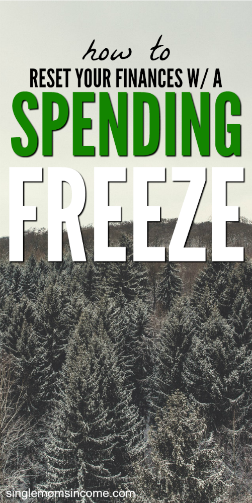 Ready to build your savings back up or pay off some debt? Here's how to do a spending freeze so you can reset your finances. #frugal #savemoney #budget #personalfinance