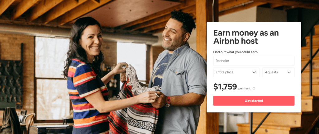 Earn money with Airbnb
