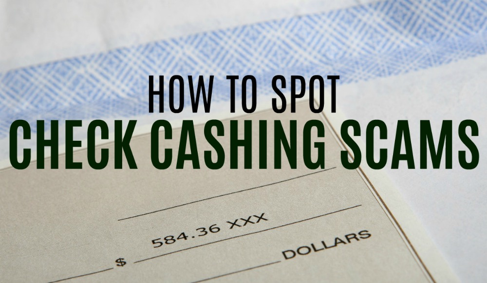 If you're looking for a way to make money from home you want to steer clear of check cashing job scams! Here's what to look out for.