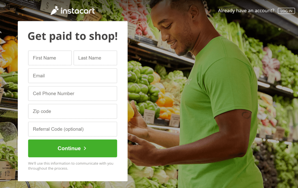 Make money delivering groceries with Instacart.