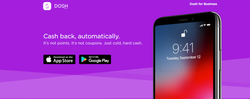 The Dosh app allows you to earn cashback.