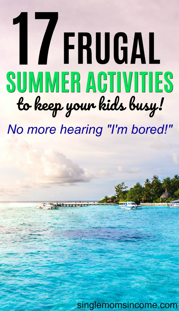 Looking to keep your kids busy this summer without breaking the bank? Here are 17 frugal summer activities your kids will love! #frugal #kidsactivities #cheapkidsactivities