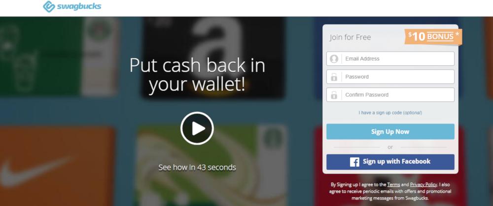 take surveys with the Swagbucks app