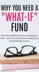 """Think your emergency fund is enough? If you want real financial stability consider creating a """"What If"""" fund."""
