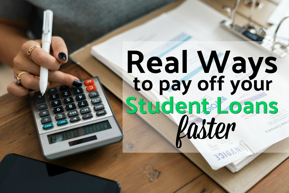 Student loans could be the next big financial disaster. Here are seven real ways to pay off your student loans faster and free yourself from their burden. #studentloans #debt