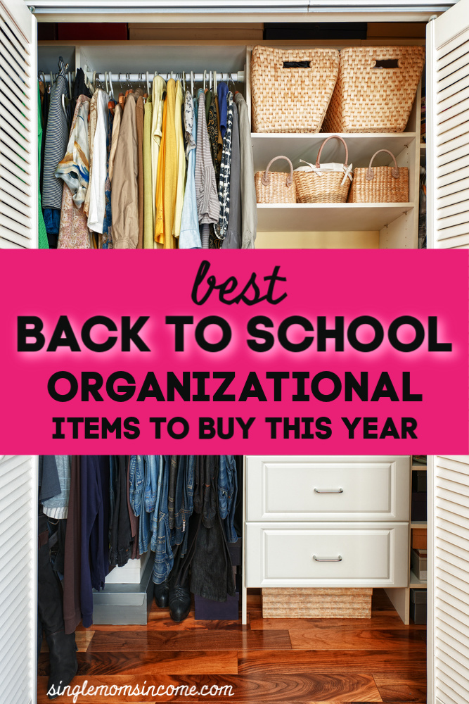 Back to school sales are not just for pen and paper. In fact, back to school sales are a GREAT time to purchase organizational items. Here are our top picks. #backtoschool #organizing