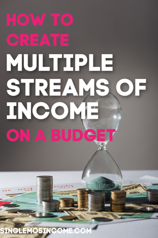 The average millionaire has seven sources of income! If you're wanting to inch up your financial game here's how to create multiple streams of income on a moderate budget. #personalfinance #budget #passiveincome