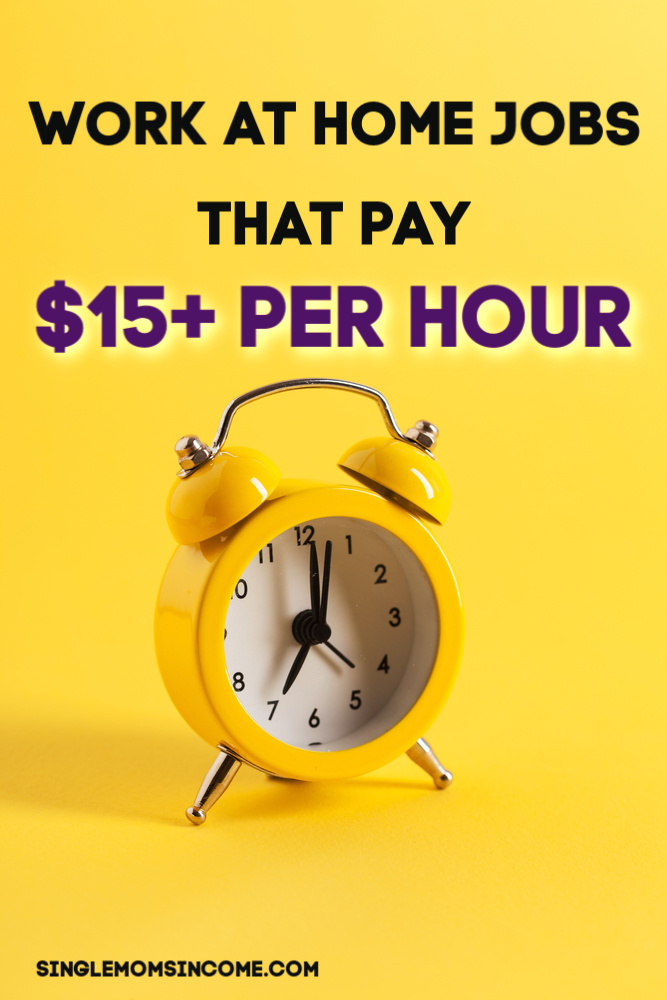 Although more employers are hiring for work from home it can still be tough to find a job that pays more than $9 per hour! Here are work from home jobs that pay $15 or more per hour. #workathome #legitworkathome #highpayingjobs #onlinejobs