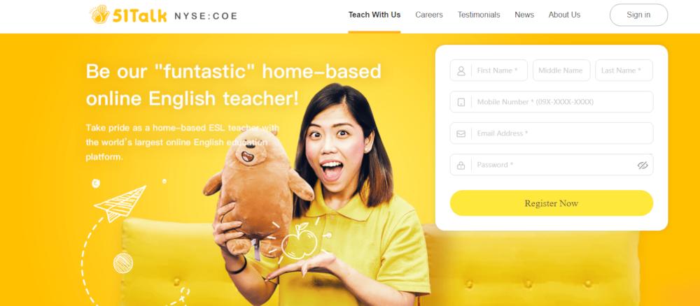 51 Talk Website - Make extra money teaching ESL