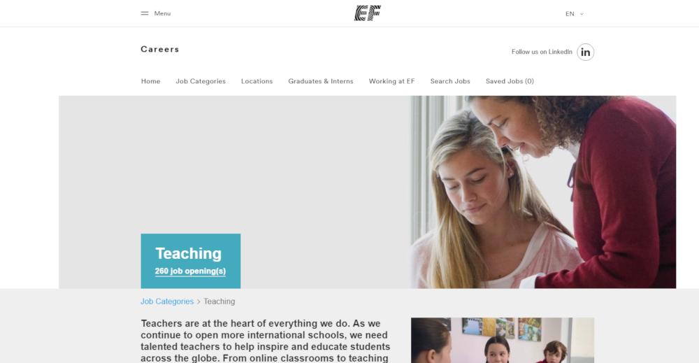 Education First Website - A great side hustle for teachers!