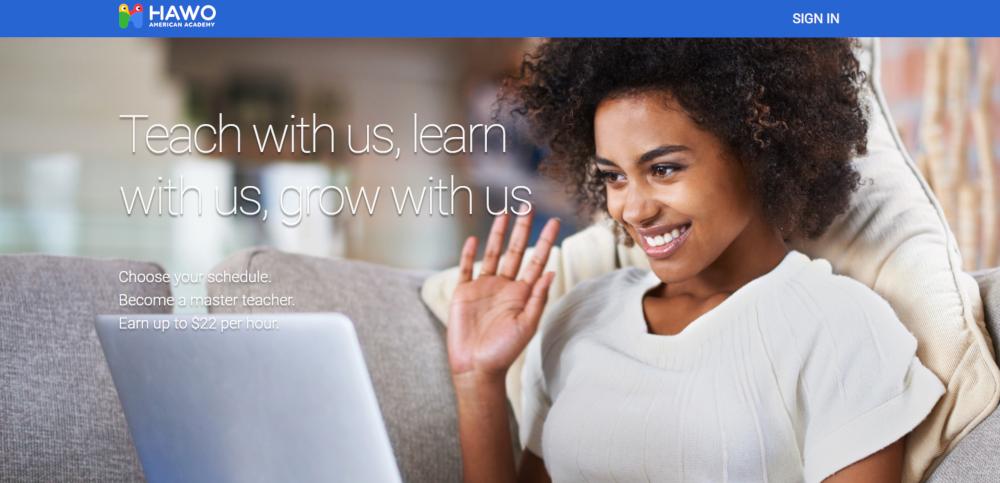 HAWO American Academy Website - Side Hustle for Teachers