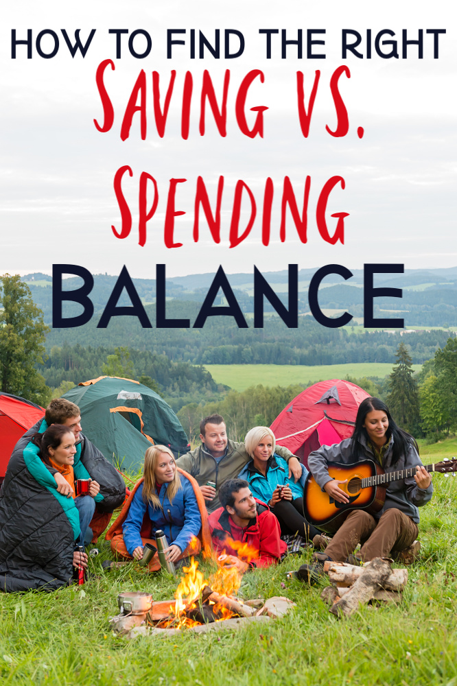 It can be hard to decide whether to spend or save. Here's how to strike balance between living for now and preparing for the future! #spending #saving