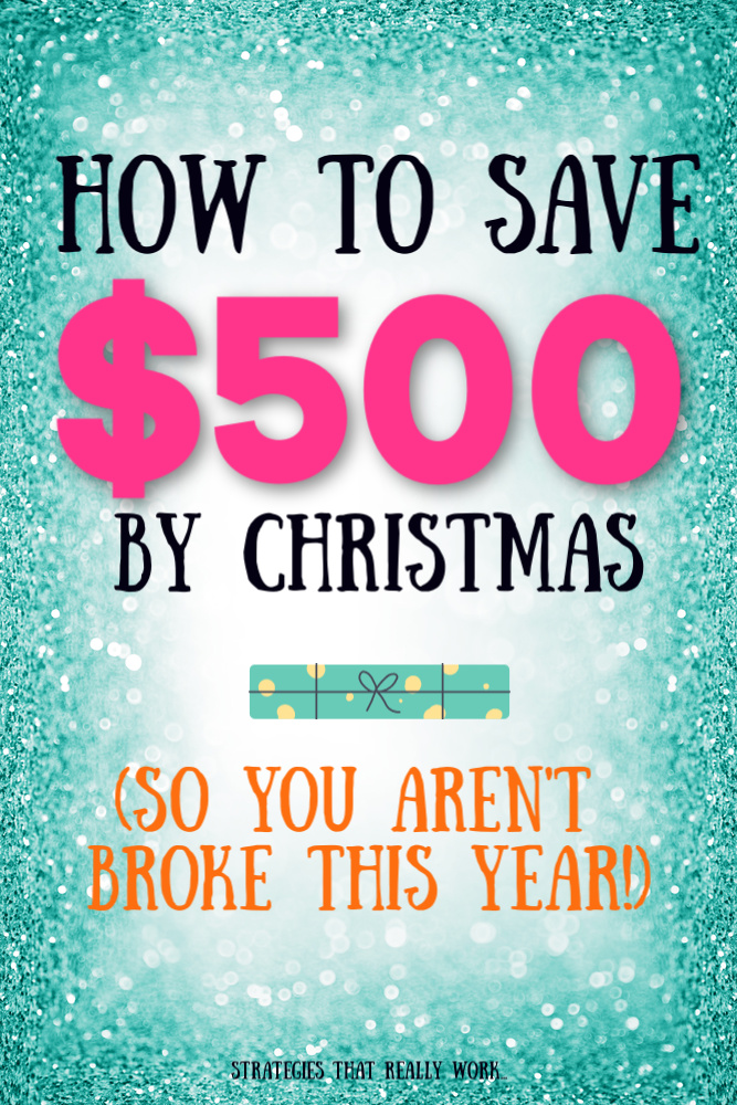 Don't go broke this year. Here's how to save $500 by Christmas. #Christmas #Money