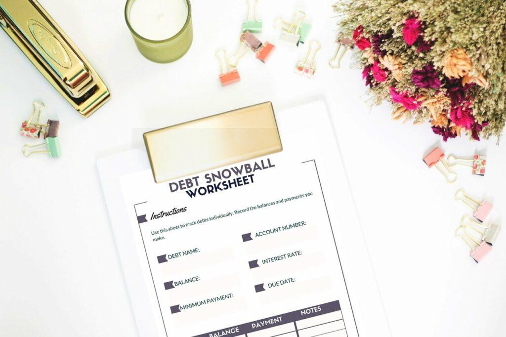 free debt snowball worksheet