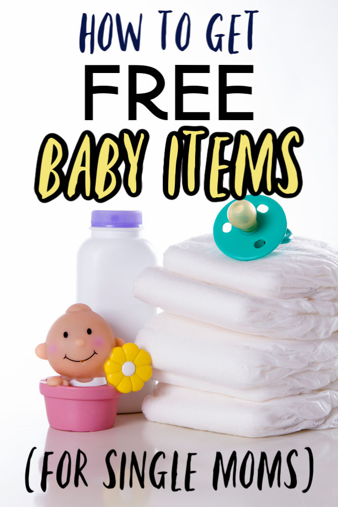 Here's how to get free baby stuff for single moms or any mom who may have a tight financial situation at the moment.