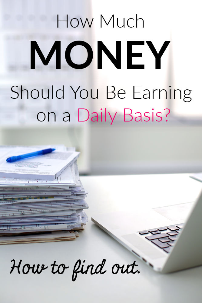 Exactly how much money you need to be earning each day to hit your goals.